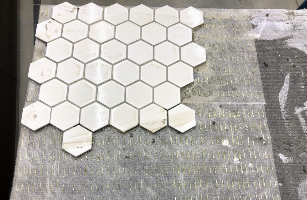 finished product on the Simple Mat adhesive