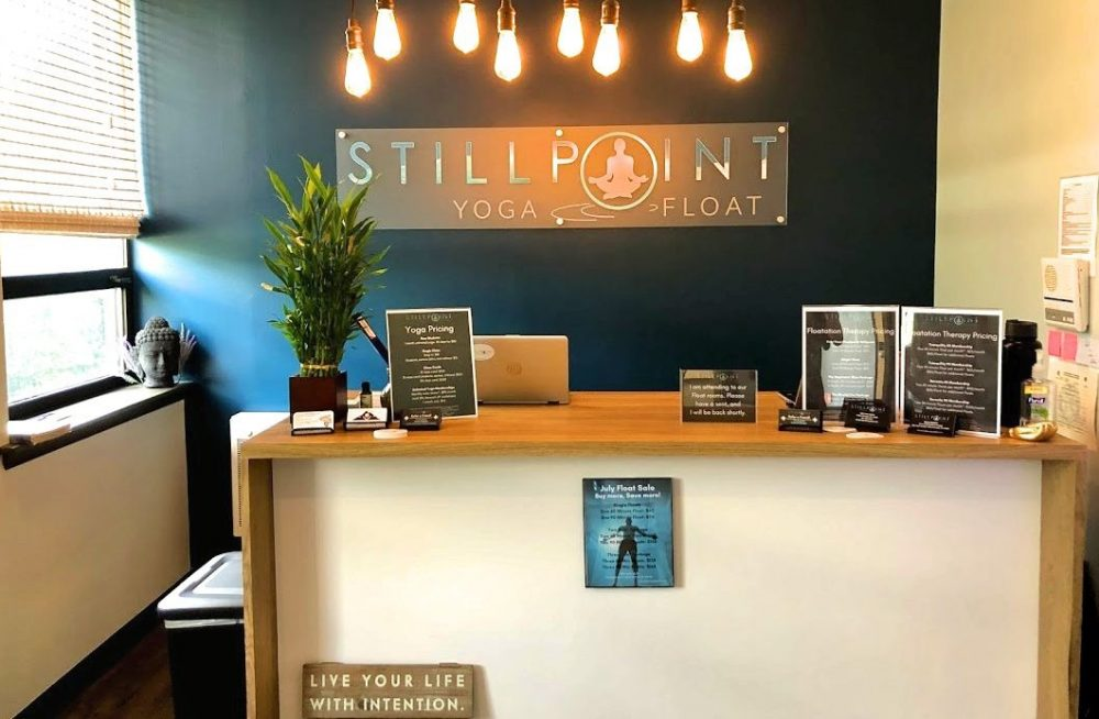 From desk at Stillpoint yoga and float