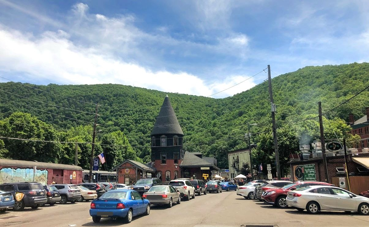 view of downtown jim thorpe