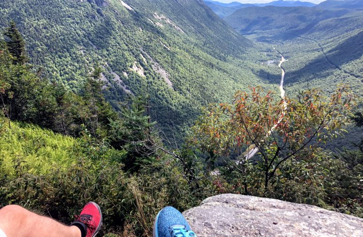 View of Crawford Notch from Mount Willard in New Hampshire