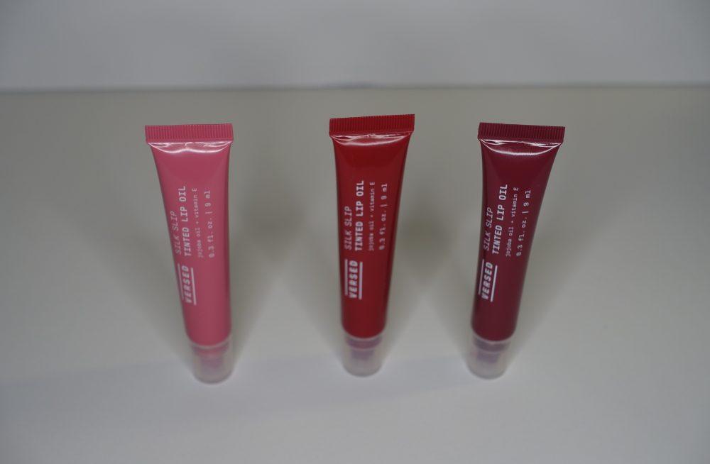 versed skincare tinted lip oil trio